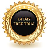 Fourteen day free trial golden badge