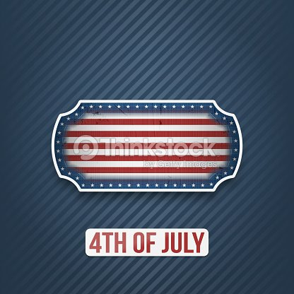 Fourth of July national Holiday Banner