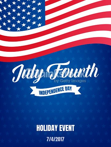 Fourth of July. USA Independence Day poster. 4th of July holiday event banner