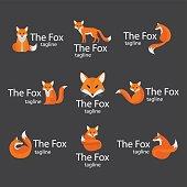 Fox vector logo set