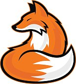Clipart picture of a fox cartoon mascot logo character