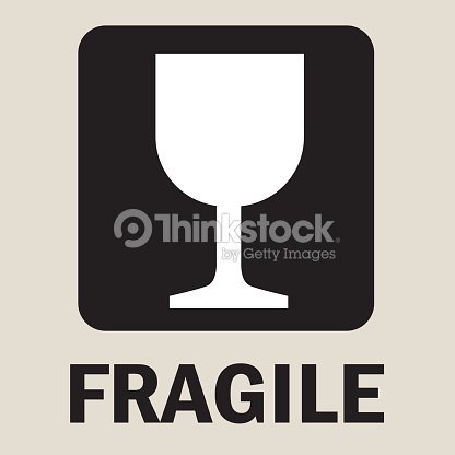Fragile Or Packaging Symbols stock vector - Thinkstock