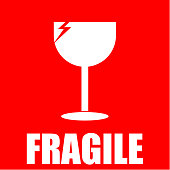 fragile, sticker