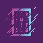 Frame art graphics. Stylish geometric element for business cards, gift cards, flyers brochures. Vector illustration.
