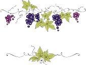 Vector illustration, floral design element