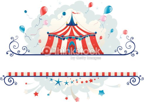Frame With Circus Tent Vector Art | Thinkstock