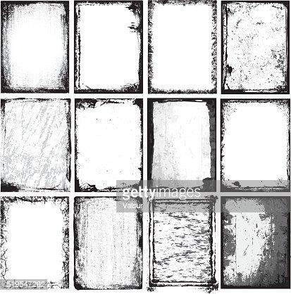 Frames & Textures : stock vector