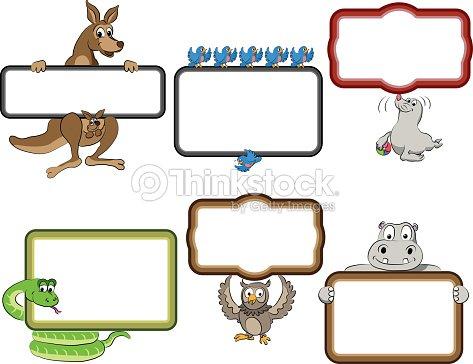 Frames With Cartoon Animals Vector Art | Thinkstock