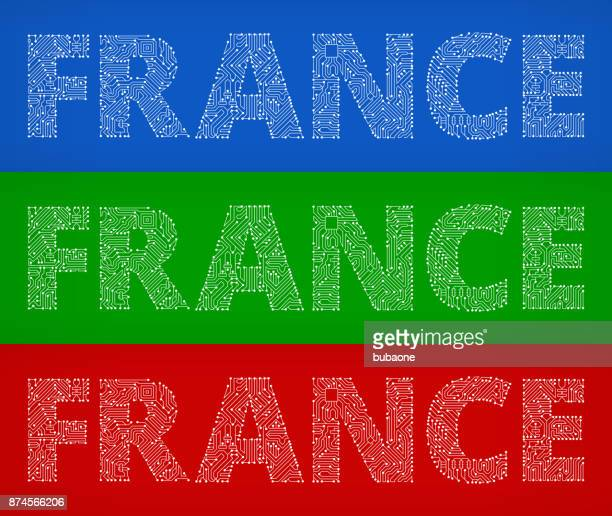 France Circuit Board Color Vector Backgrounds