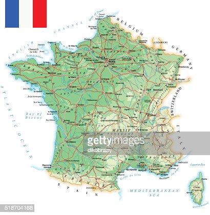Belgium Topographic Map.France Detailed Topographic Map Illustration Vector Art Thinkstock