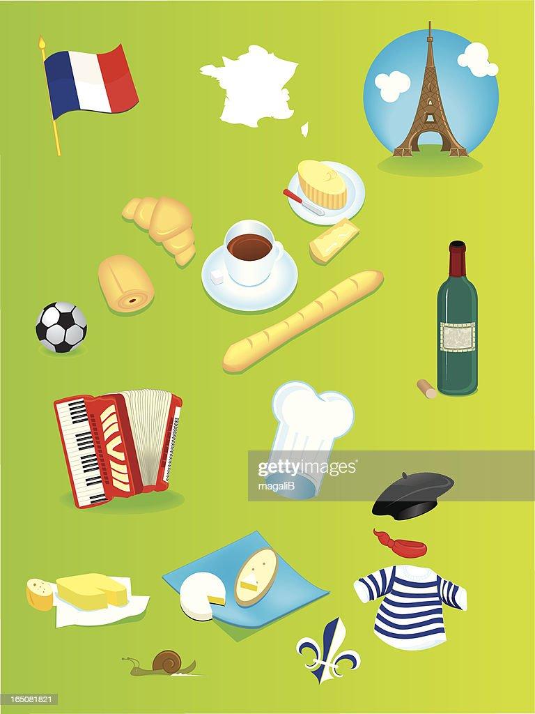 france icons : Vector Art