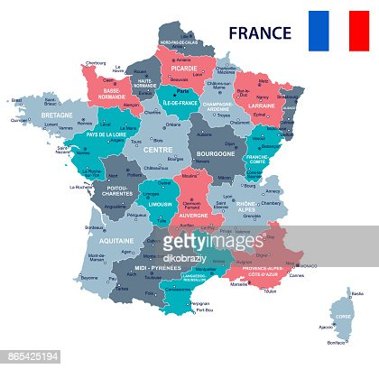 France Map Flag.France Map And Flag Illustration Vector Art Thinkstock