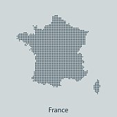 vector map of France