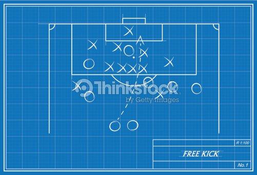 Free kick on blueprint vector art thinkstock free kick on blueprint vector art malvernweather Image collections