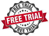 free trial stamp. sign. seal