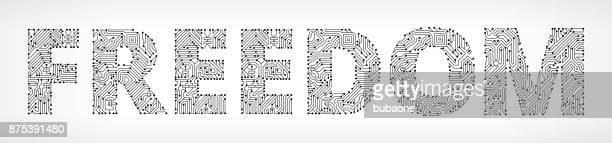 Botones de Vector de circuito libertad