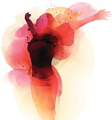 Image shows a woman in watercolor, without opening shapes and gradients; big jpeg (350DPI); digital drawing with free wild style; fantasy painting; better for white backgrounds