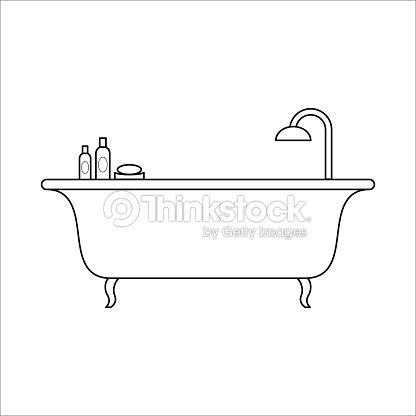 Freestanding Bath Home Furniture Lineart Design Interior Concept