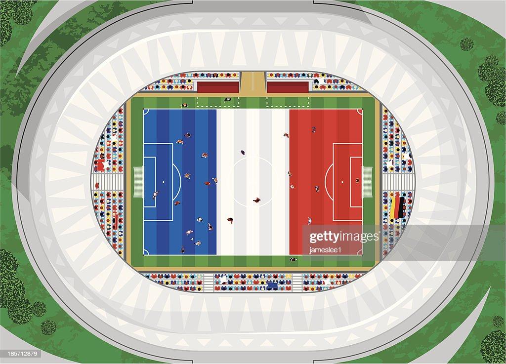 French Football Stadium : Vector Art
