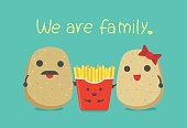 Potato family include father and mother which have son is French Fries.