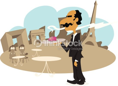 French Waiter Serving Local Dish Vector Art | Thinkstock