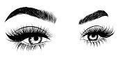 Female eyes. Vector illustration.