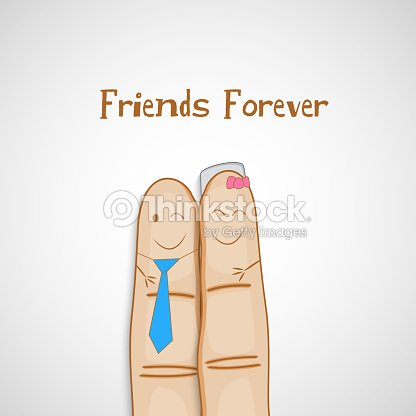 Friendship Day Concept With Smiley Faces Painted On Human Fingers