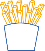 fries french fast food box icon vector illustration