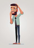 Vector flat cartoon illustration