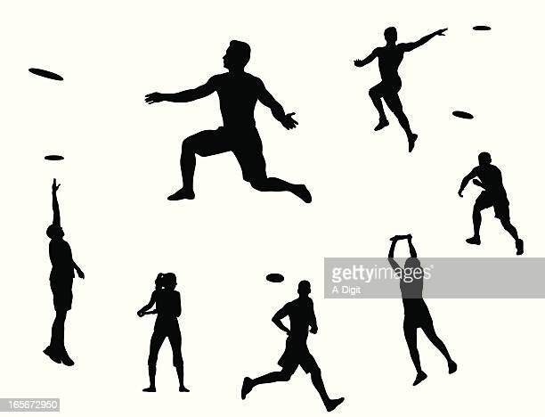 Ultimate frisbee silhouette