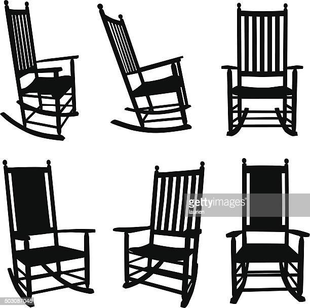 Red Rocking Chair Clipart ~ Chair stock illustrations and cartoons getty images