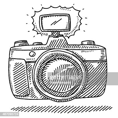 Compact Travel Camera Drawing Vector Art | Getty Images