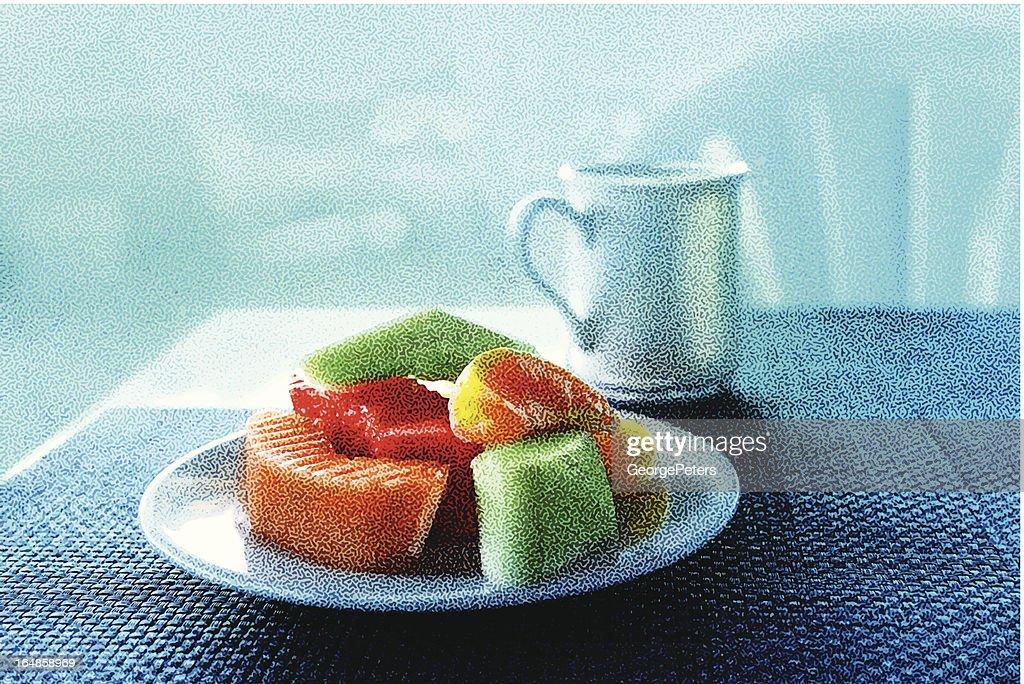 Fruit And Coffee Breakfast : Vector Art