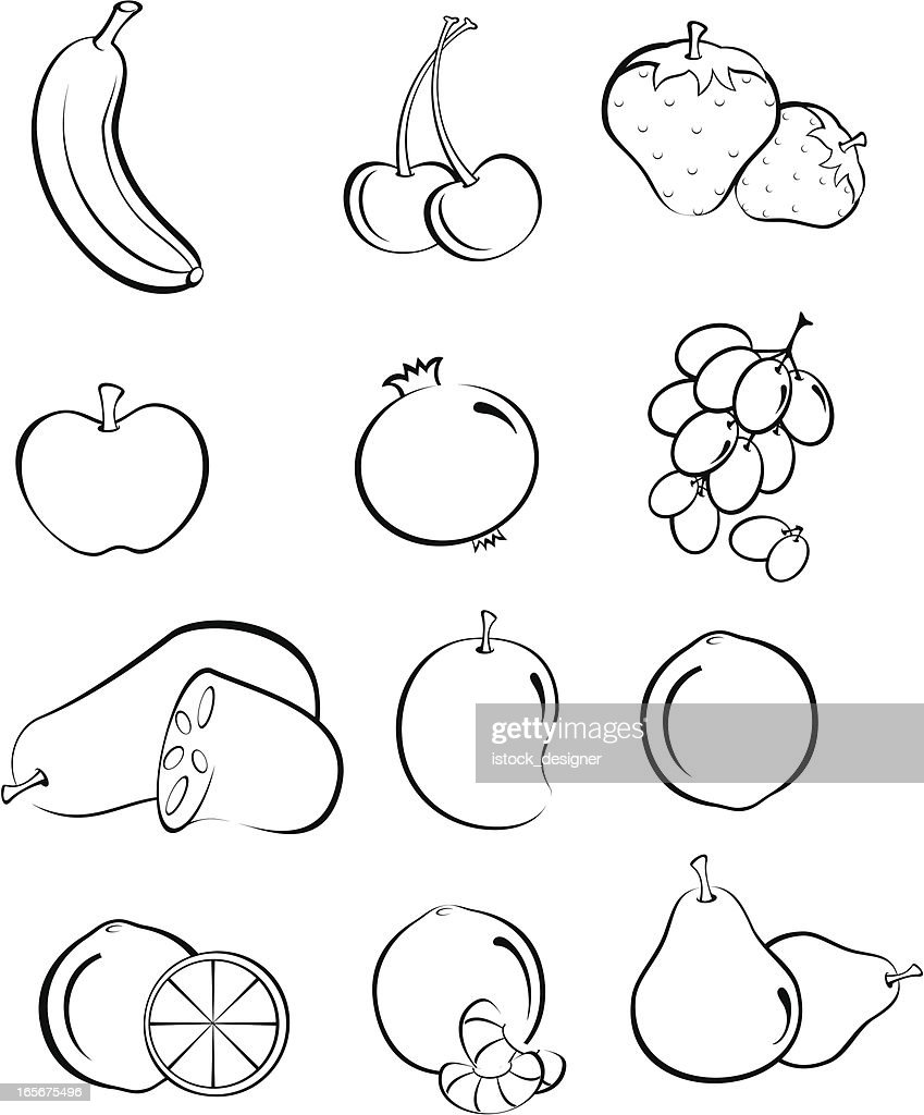 Free Healthy Food Coloring Pages
