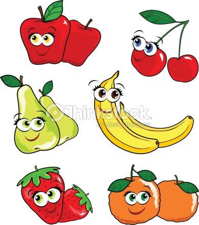 Frutta allegra clipart vectoriel thinkstock for Clipart frutta