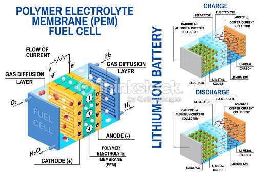 Sensational Fuel Cell And Liion Battery Diagram Vector Device That Converts Wiring Cloud Inamadienstapotheekhoekschewaardnl