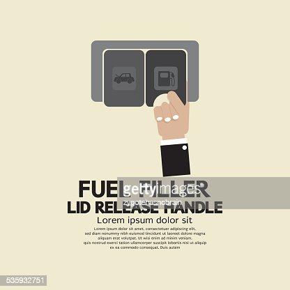Fuel Filler Lid Release Handle : Vector Art