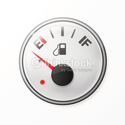 Fuel Gauge Empty With Chrome Frame stock vector - Thinkstock
