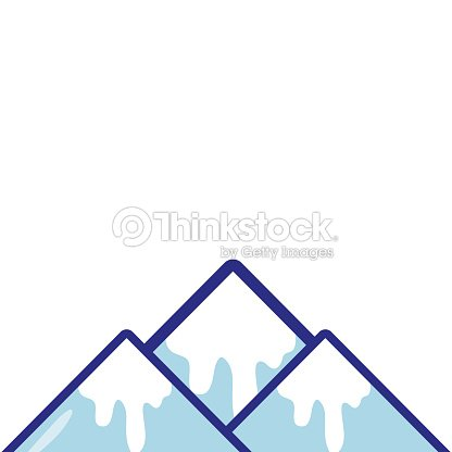 Full color natural snowy mountain and cold weather