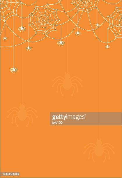 Fun Halloween Cobweb Border