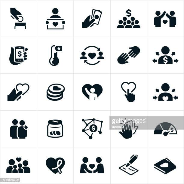 Fundraising and Charity Icons
