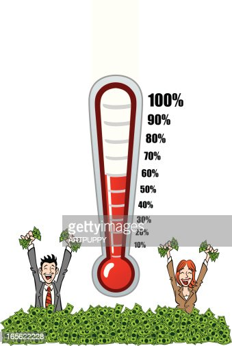 Fundraising Thermometers Vector Art | Getty Images