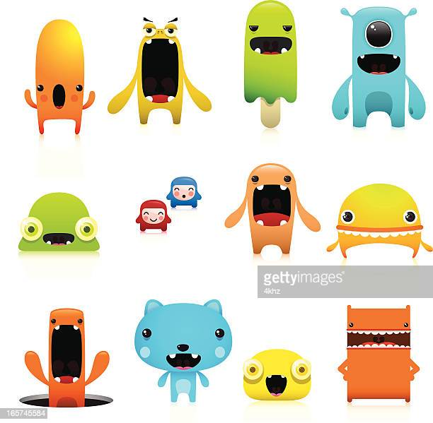 Funny And Cute Vector Character Set