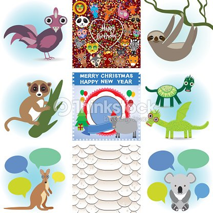 happy birthday new year cards seamless background snake vector art