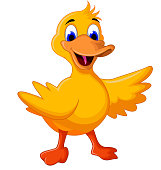 vector illustration of funny baby duck cartoon