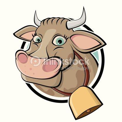 Oiseau dr le en dessin anim de vache clipart vectoriel - Dessin vache humour ...
