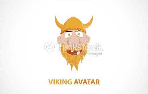 Funny Cartoon Viking Avatar Vektorgrafik Thinkstock