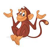 Funny chimpanzee illustration