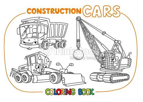 Construcción Divertido Juego De Coches Libro Para Colorear Arte ...