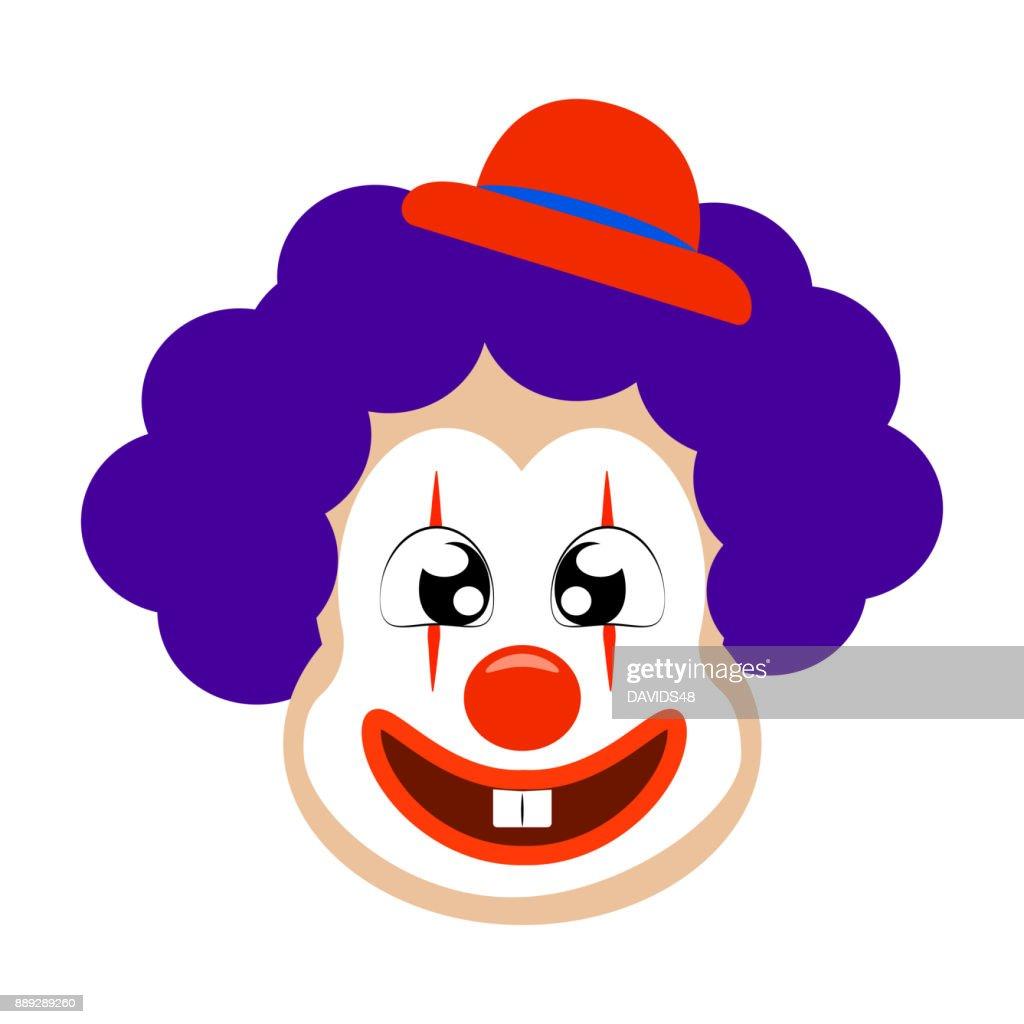 funny cute clown vector art thinkstock rh thinkstockphotos co uk clown vectoriel clown vector free download